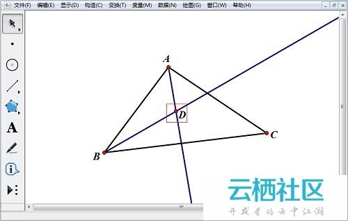 如何用数学课件制作工具画三角形内切圆-