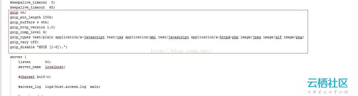 在windows、linux中开启nginx的Gzip压缩大大提高页面、图片加载速度-