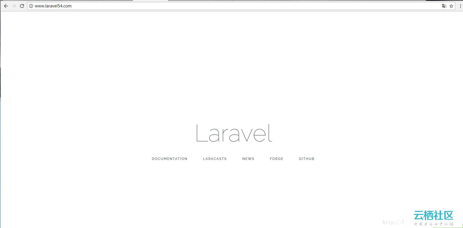 使用GIT安装laravel-